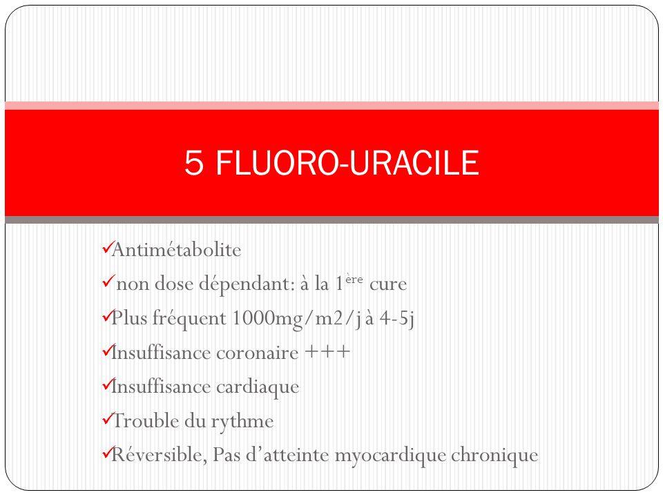 5 FLUORO-URACILE Antimétabolite non dose dépendant: à la 1ère cure