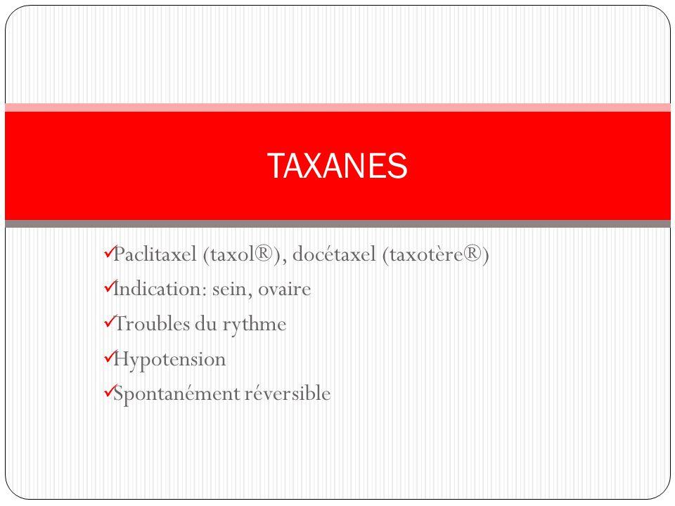 TAXANES Paclitaxel (taxol®), docétaxel (taxotère®)