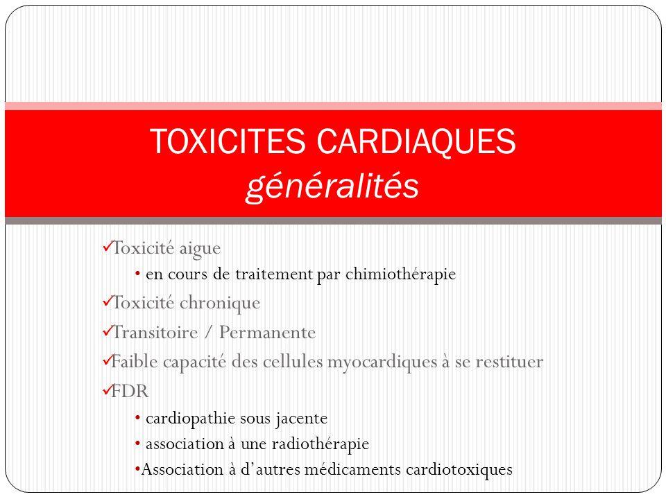 TOXICITES CARDIAQUES généralités