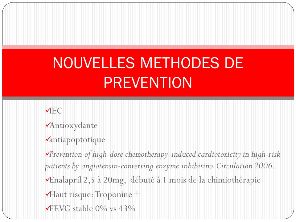 NOUVELLES METHODES DE PREVENTION
