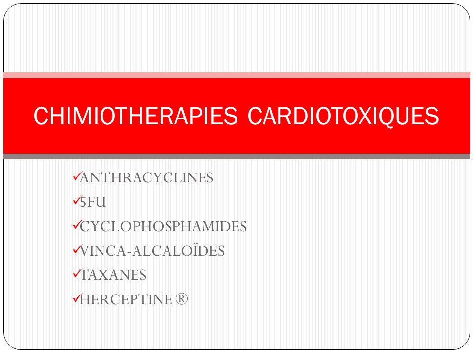 CHIMIOTHERAPIES CARDIOTOXIQUES