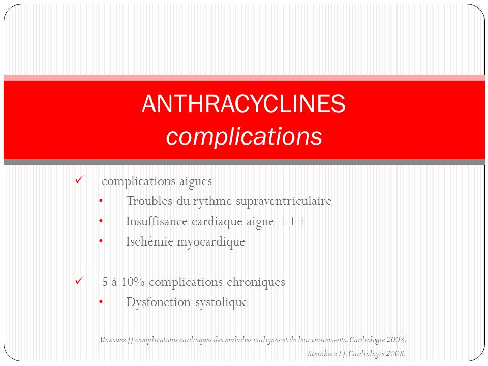 ANTHRACYCLINES complications