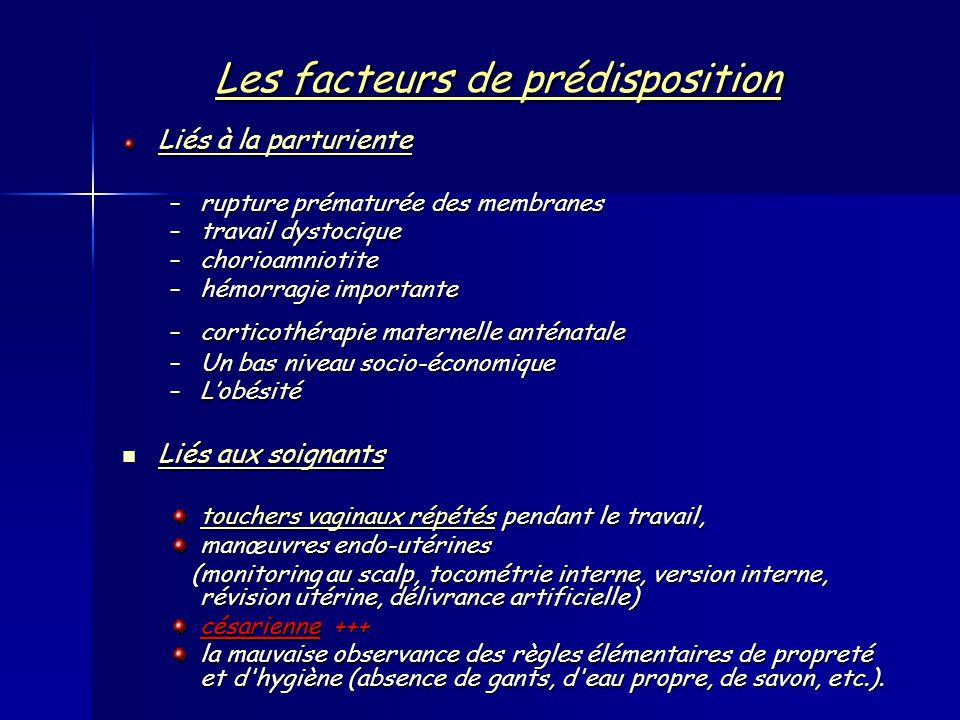 Les facteurs de prédisposition