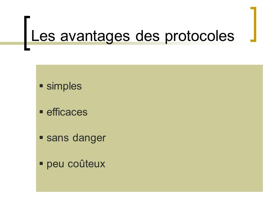 Les avantages des protocoles