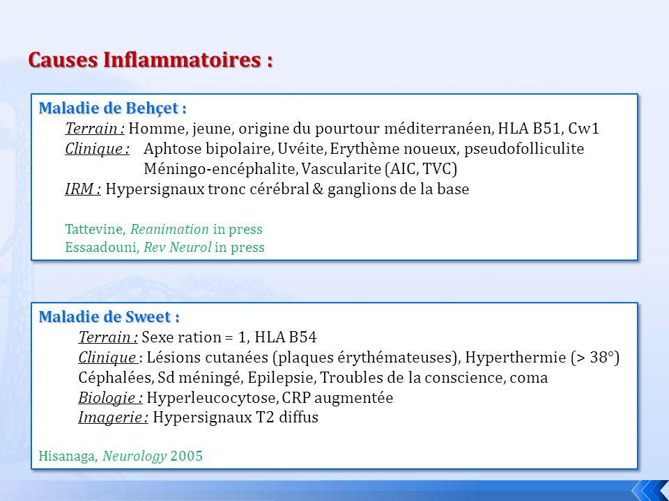 Causes Inflammatoires :