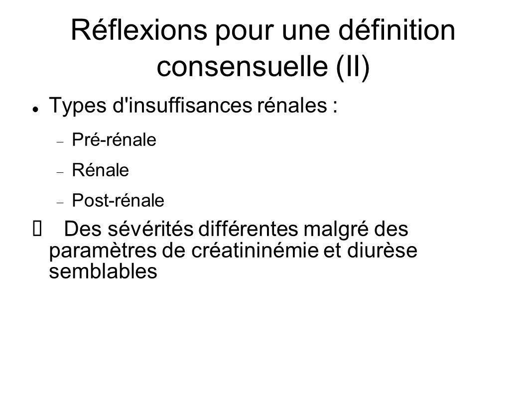 Réflexions pour une définition consensuelle (II)