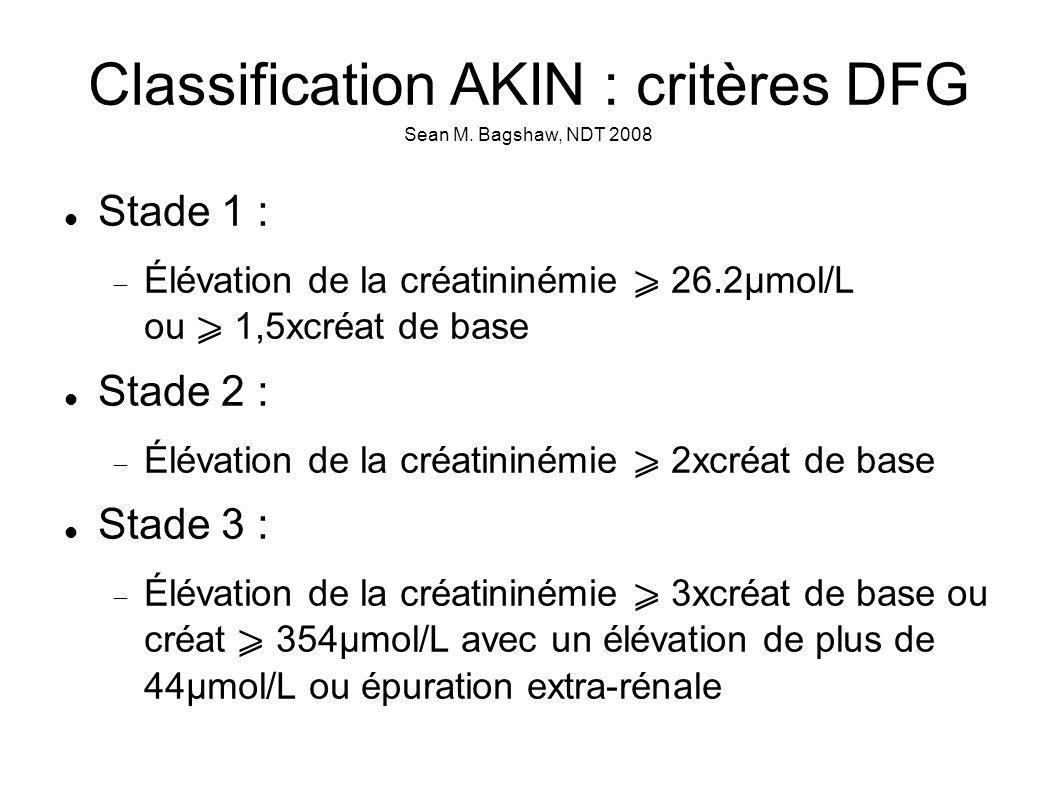 Classification AKIN : critères DFG Sean M. Bagshaw, NDT 2008