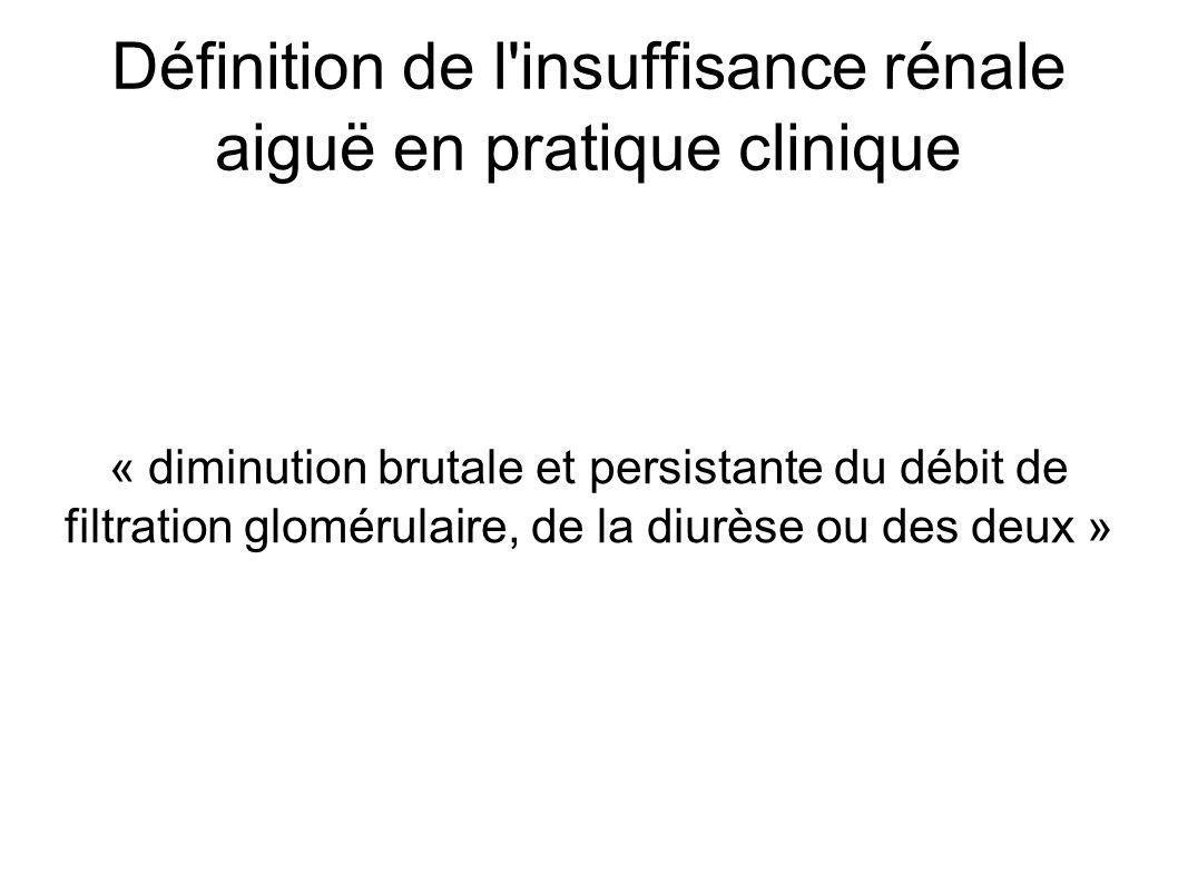 Définition de l insuffisance rénale aiguë en pratique clinique