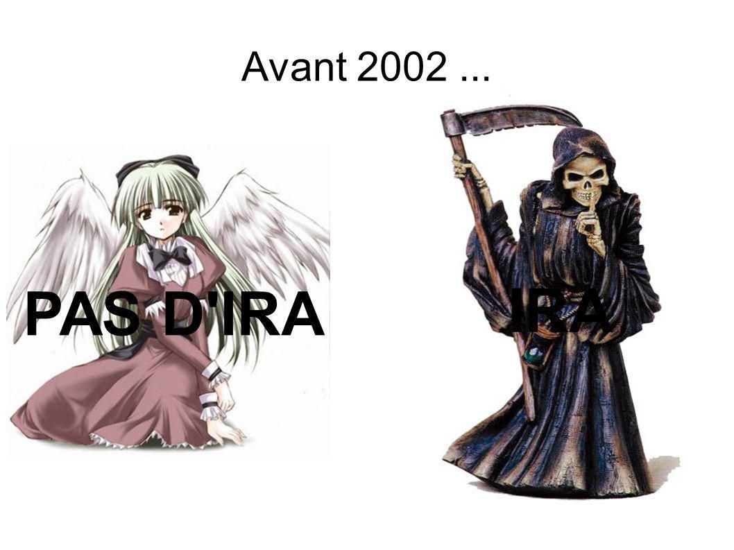 Avant 2002 ... PAS D IRA IRA