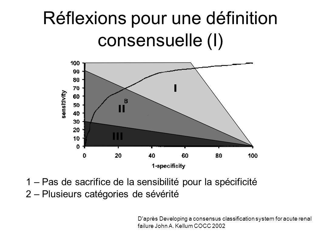 Réflexions pour une définition consensuelle (I)
