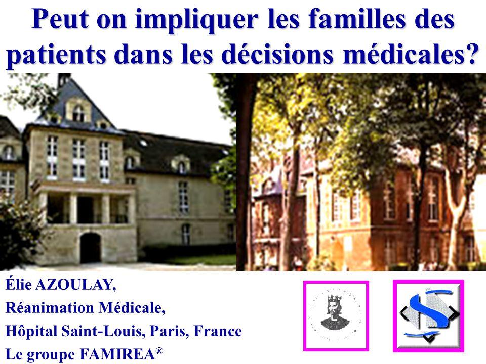 Peut on impliquer les familles des patients dans les décisions médicales