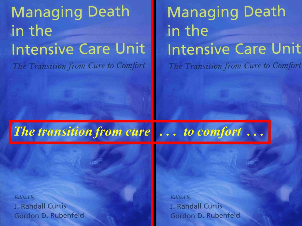 The transition from cure . . . to comfort . . .