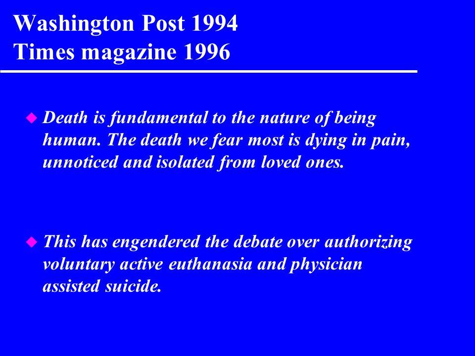 Washington Post 1994 Times magazine 1996