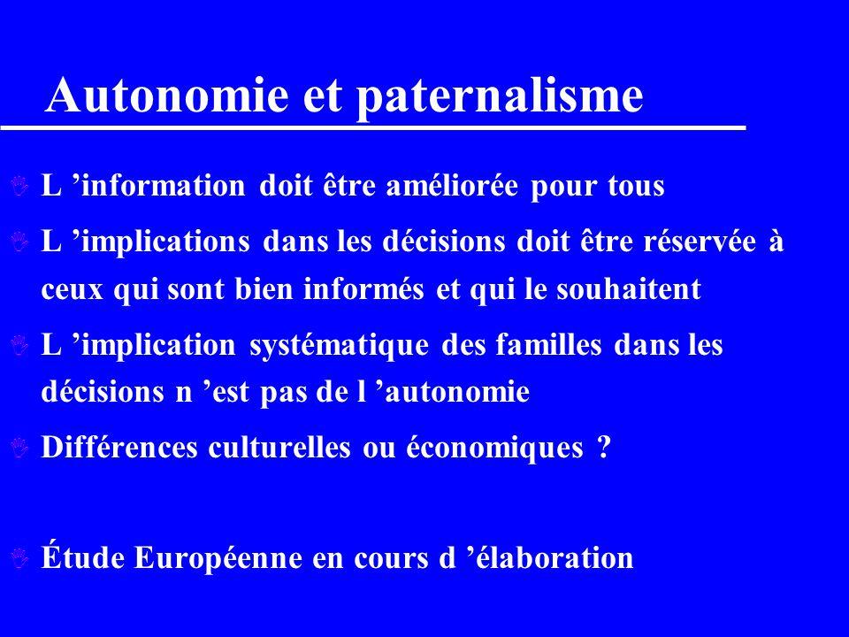 Autonomie et paternalisme