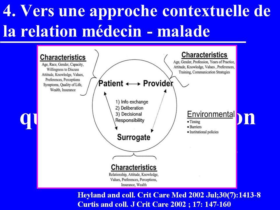 4. Vers une approche contextuelle de la relation médecin - malade