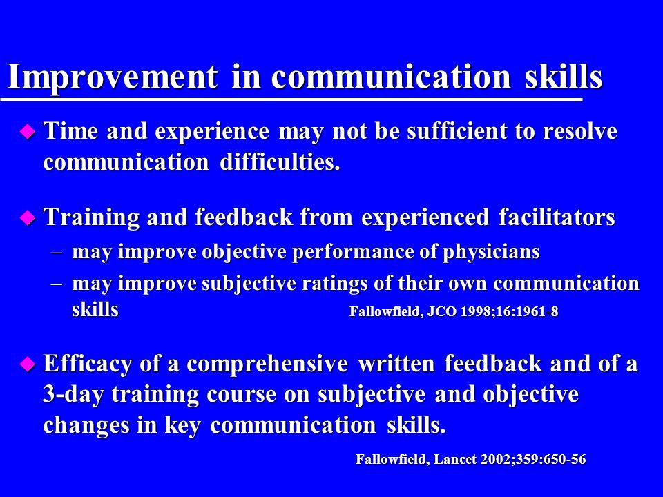 Improvement in communication skills