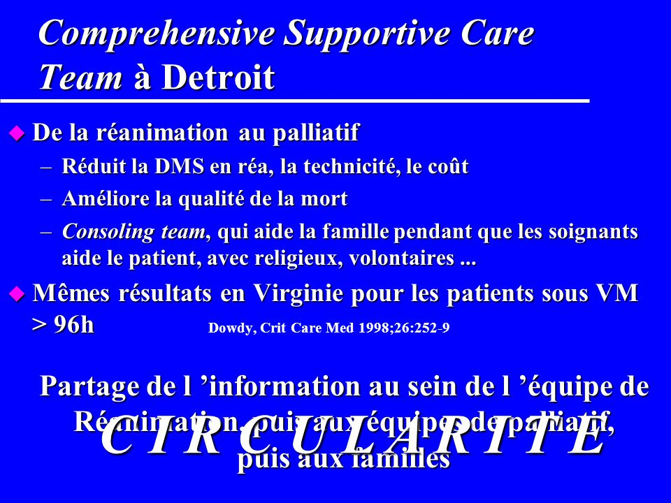Comprehensive Supportive Care Team à Detroit