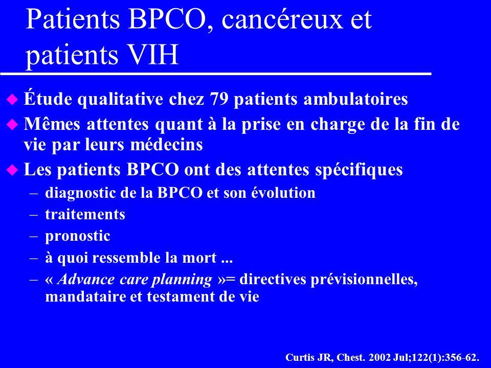 Patients BPCO, cancéreux et patients VIH