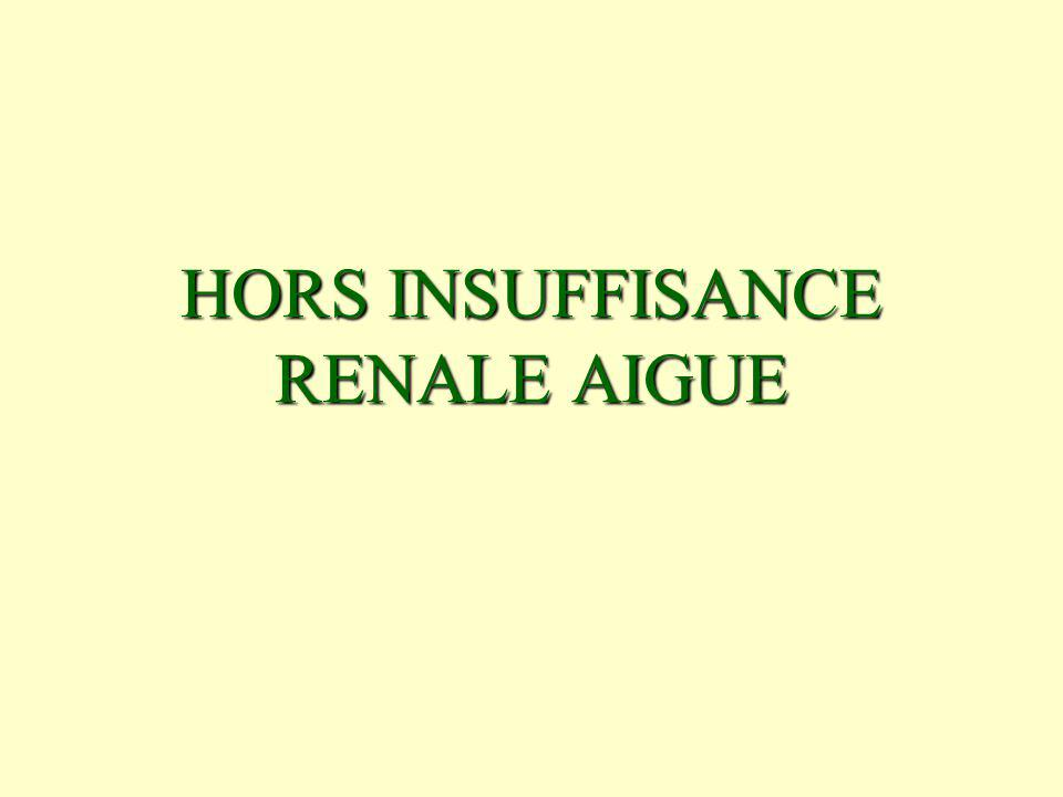 HORS INSUFFISANCE RENALE AIGUE