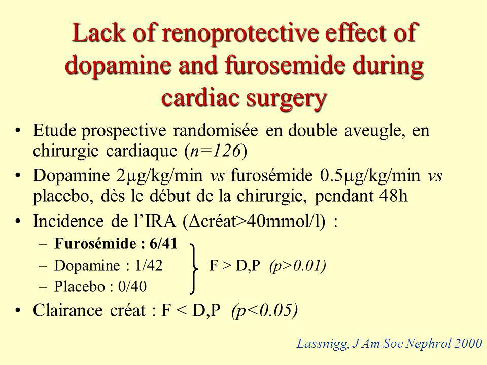 Lack of renoprotective effect of dopamine and furosemide during cardiac surgery