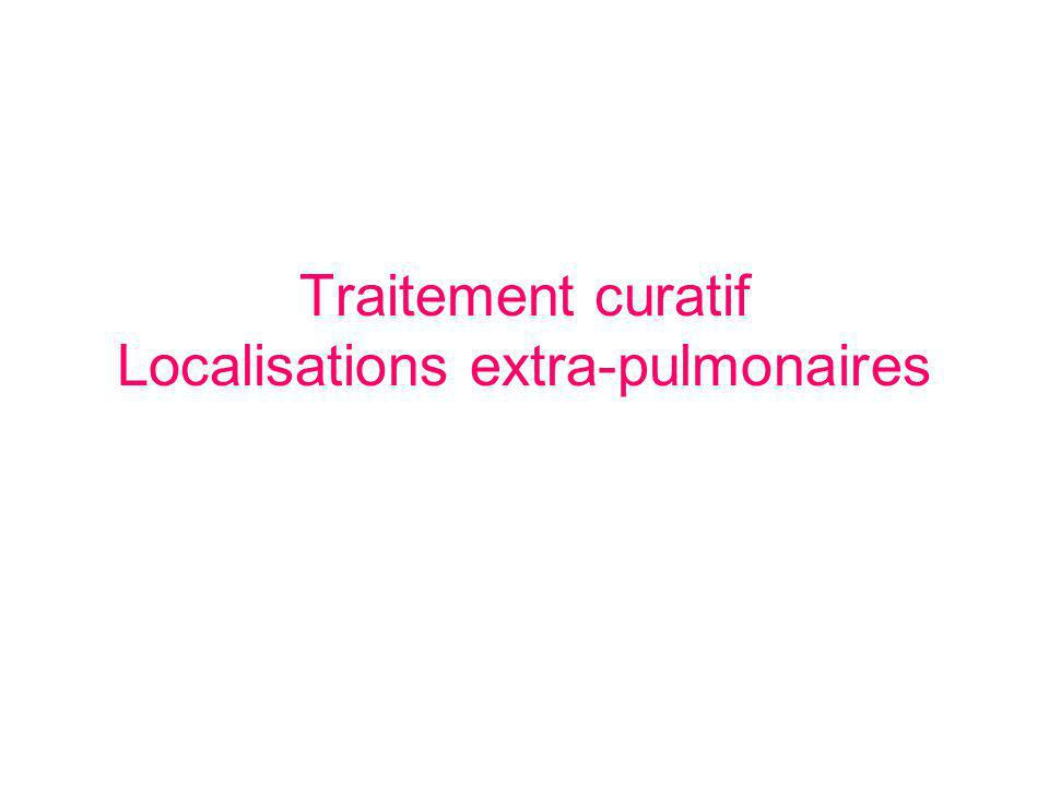 Traitement curatif Localisations extra-pulmonaires