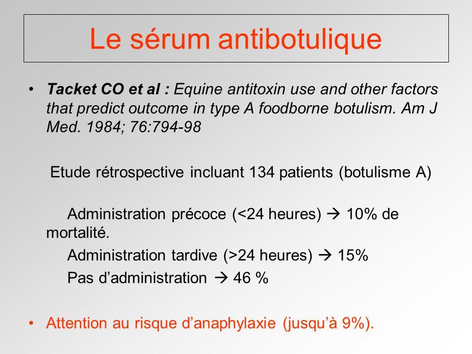 Le sérum antibotulique