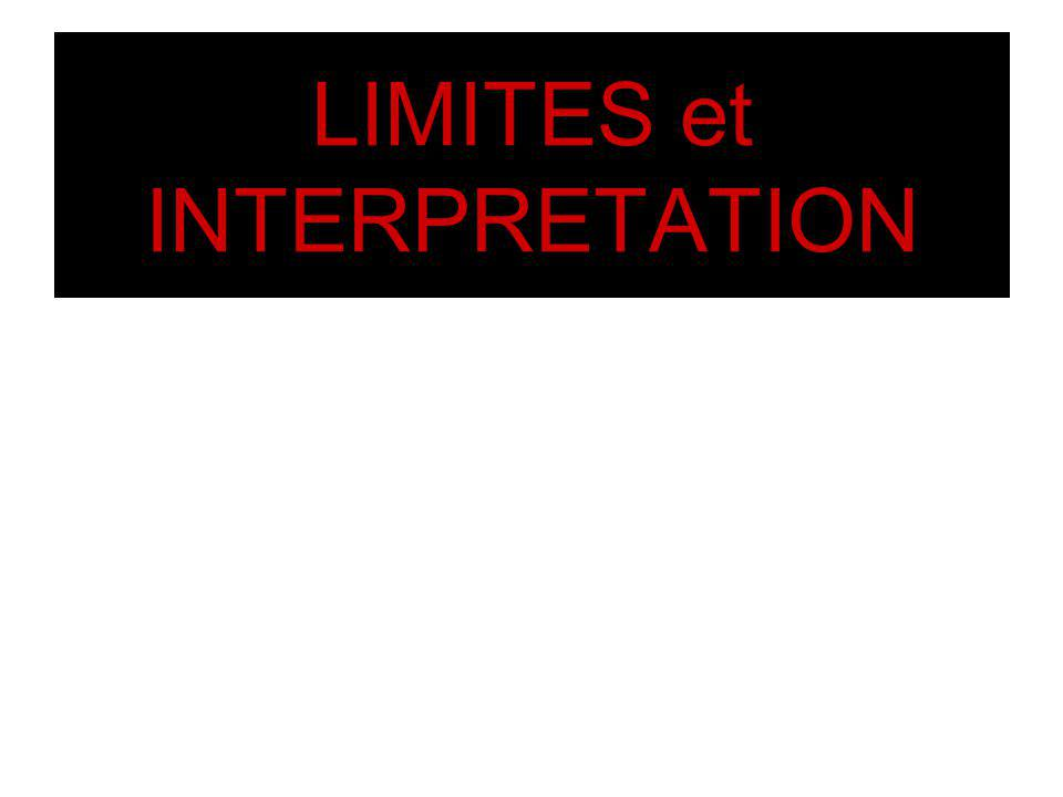 LIMITES et INTERPRETATION