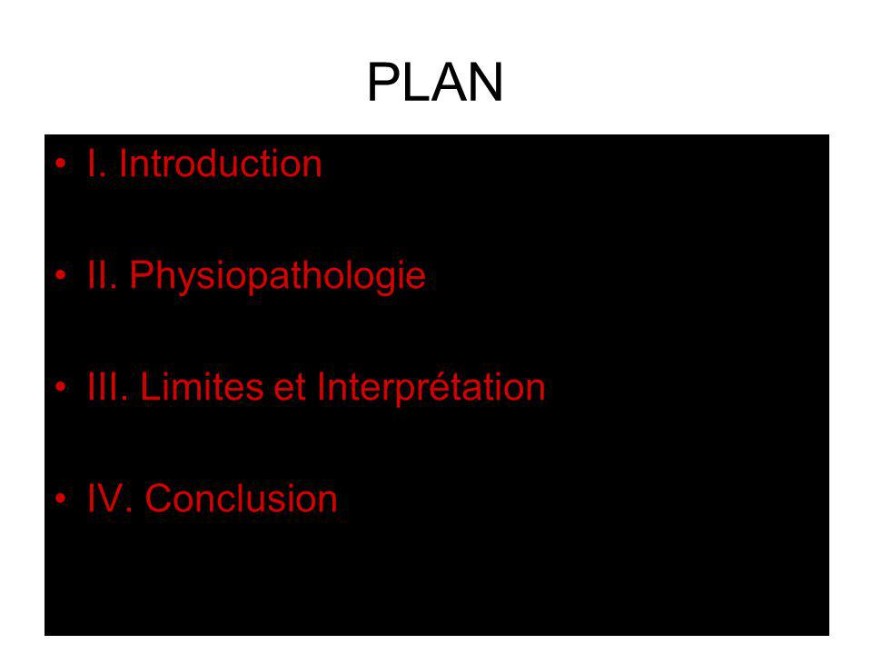 PLAN I. Introduction II. Physiopathologie