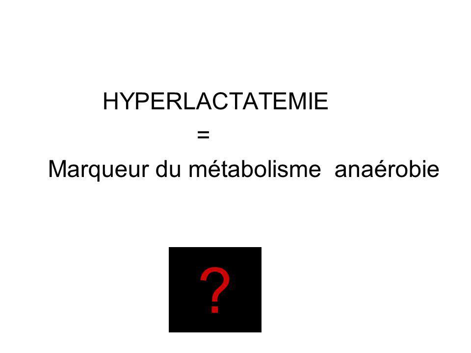 Marqueur du métabolisme anaérobie