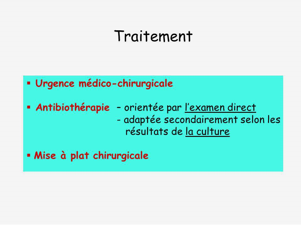 Traitement Urgence médico-chirurgicale