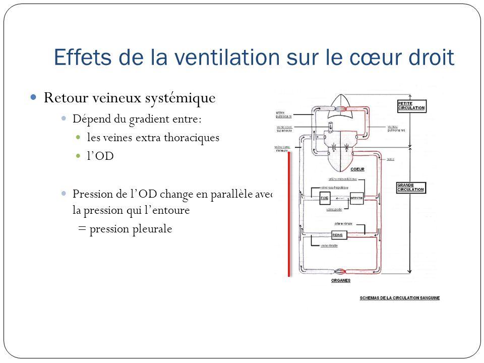 Effets de la ventilation sur le cœur droit