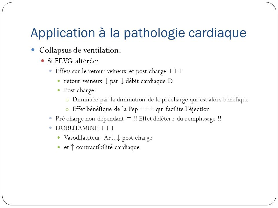 Application à la pathologie cardiaque