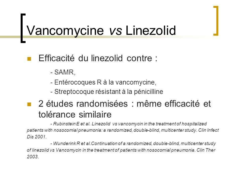 Vancomycine vs Linezolid
