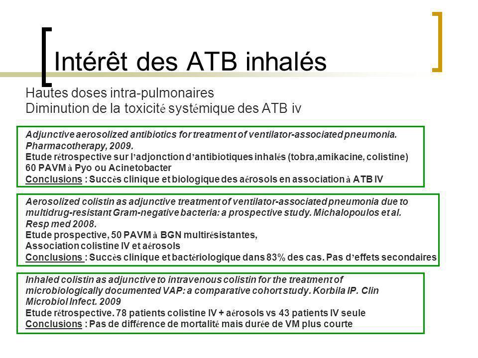 Intérêt des ATB inhalés