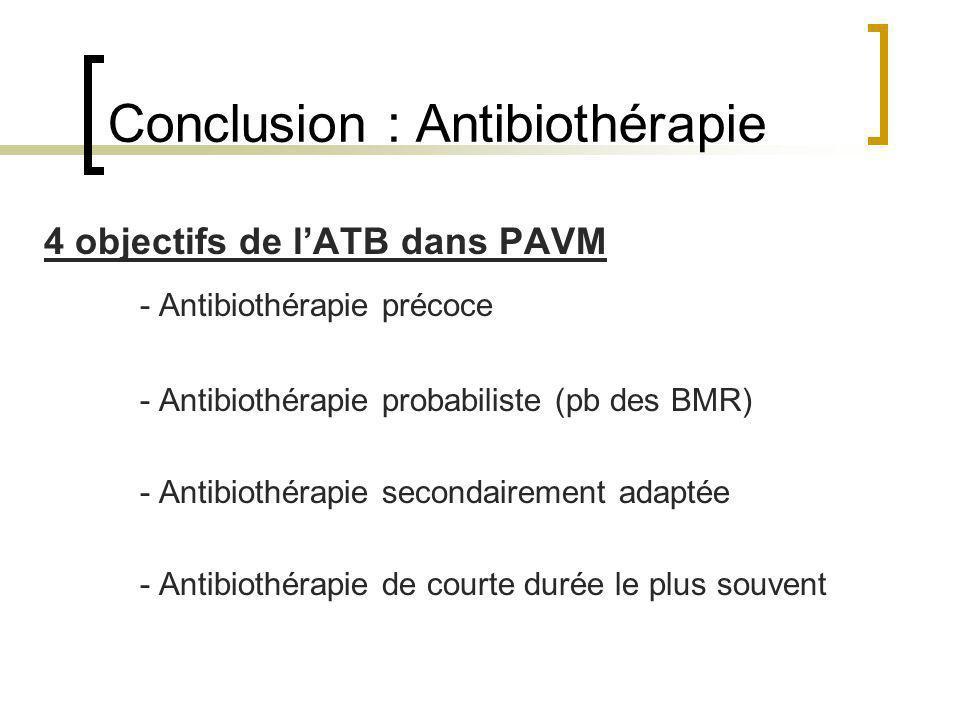 Conclusion : Antibiothérapie