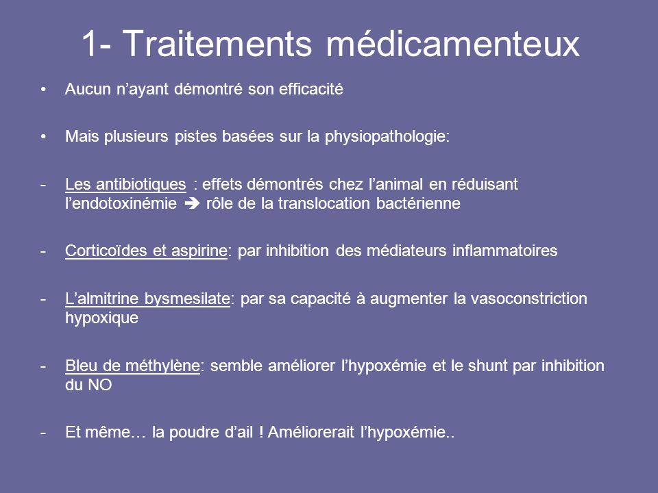 1- Traitements médicamenteux