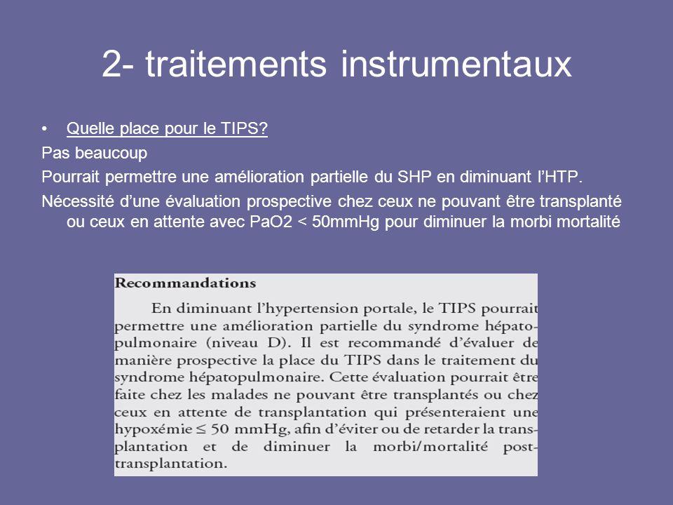 2- traitements instrumentaux