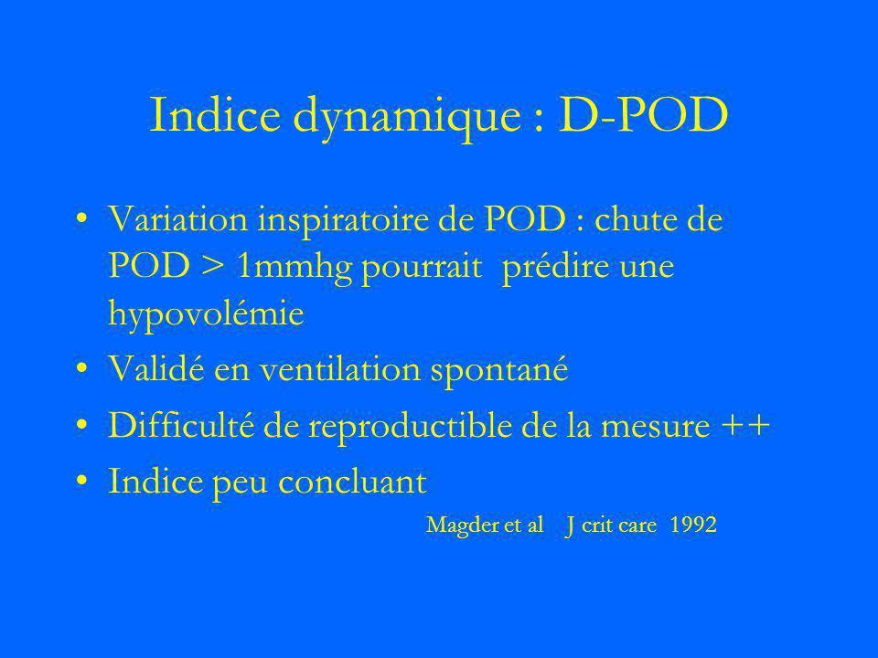 Indice dynamique : D-POD