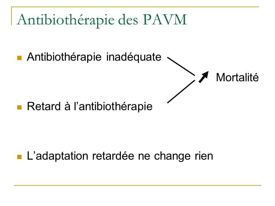 Antibiothérapie des PAVM