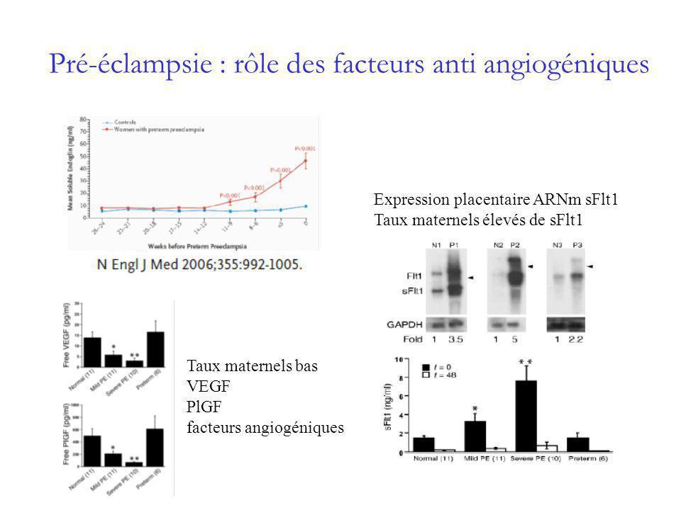 Pré-éclampsie : rôle des facteurs anti angiogéniques