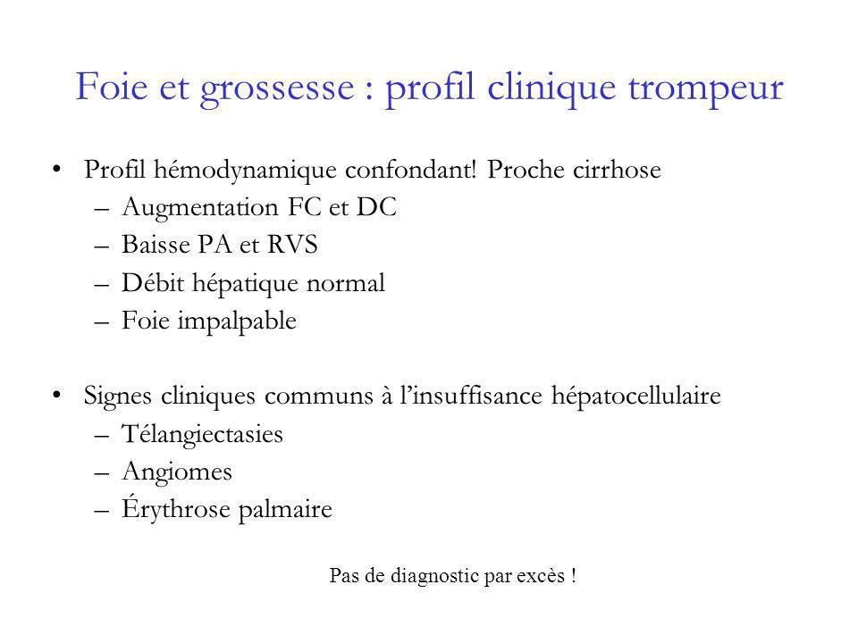 Foie et grossesse : profil clinique trompeur