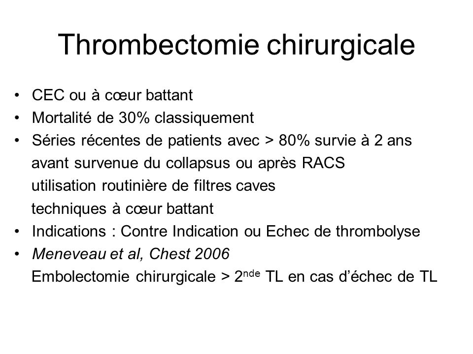 Thrombectomie chirurgicale