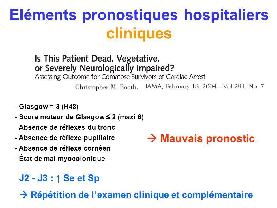 Eléments pronostiques hospitaliers