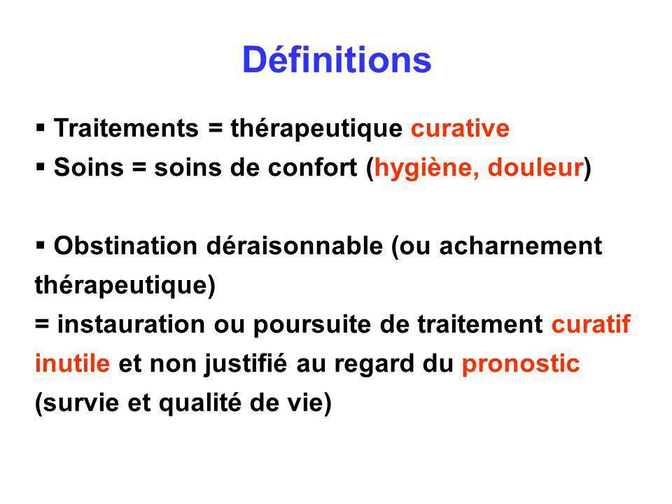 Définitions Traitements = thérapeutique curative