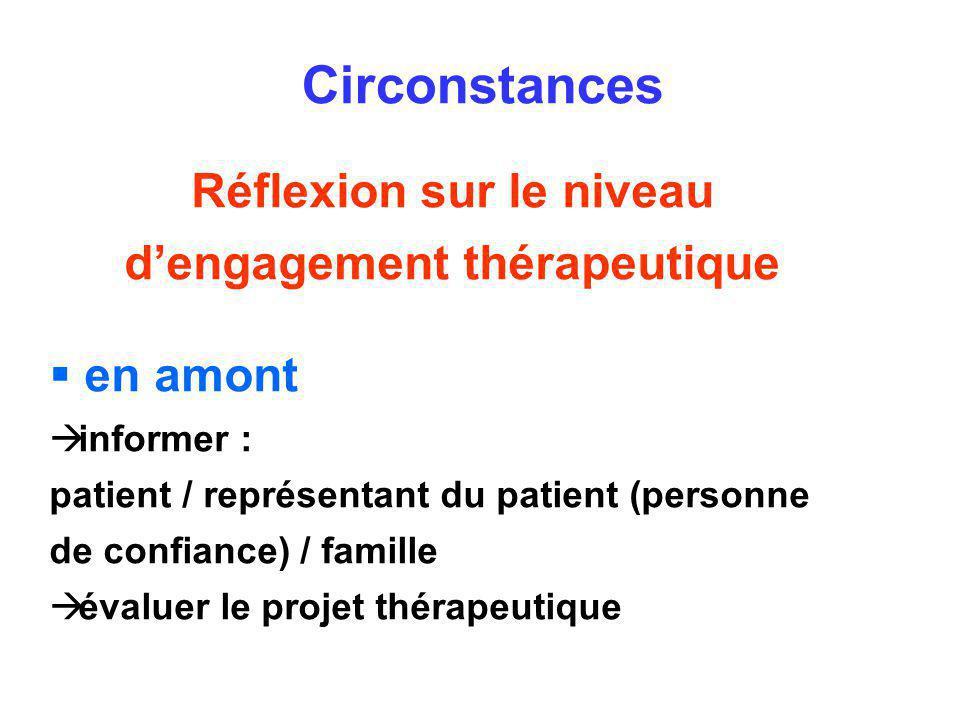 Réflexion sur le niveau d'engagement thérapeutique