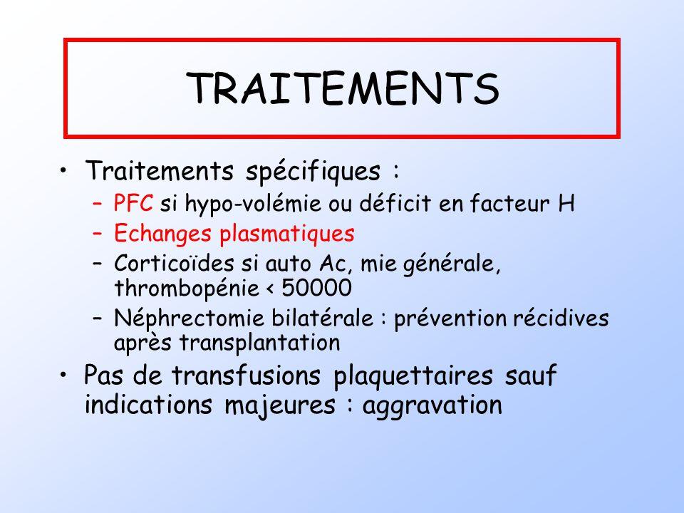 TRAITEMENTS Traitements spécifiques :