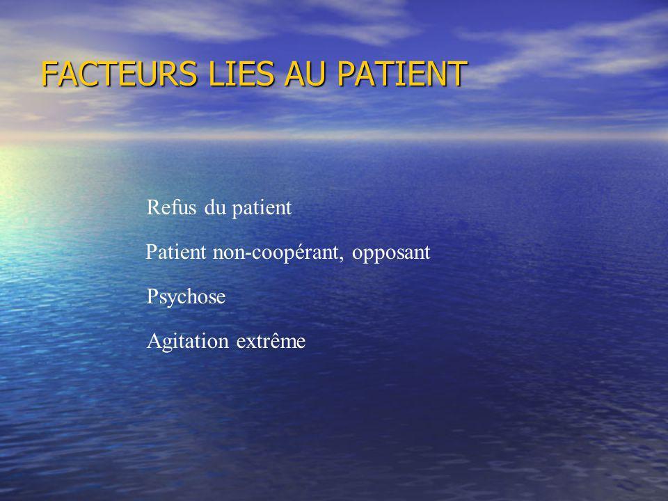 FACTEURS LIES AU PATIENT