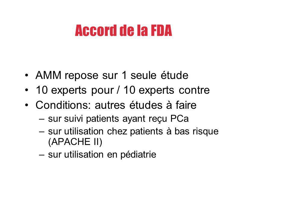 Accord de la FDA AMM repose sur 1 seule étude