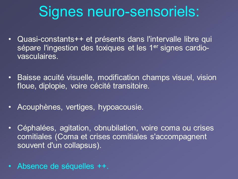 Signes neuro-sensoriels: