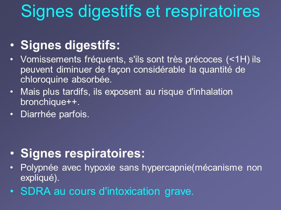 Signes digestifs et respiratoires